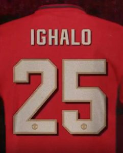 Odion Ighalo allocated the No 25 shirt at Manchester United